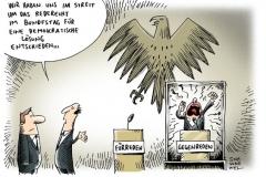 schwarwel-karikatur-rede-bundestag-rederecht-demokratie