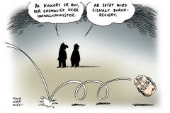schwarwel-karikatur-eiskalt-umweltminister-röttgen-wahlschlappe