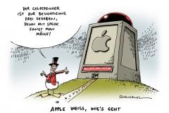 schwarwel-karikatur-apple-geldberg-dividende-wirtschaft