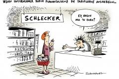 schwarwel-karikatur-schlecker-tariflohn-planinsolvenz