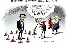 schwarwel-karikatur-iran-embargo-eu-oel
