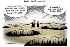 schwarwel-karikatur-berg-haushalt-haushaltlöcher