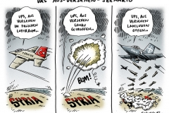 schwarwel-karikatur-syrien-türkei-kampfjet