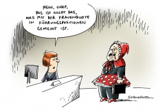 schwarwel-karikatur-frauenquote-fuehrungsposition-frau-job
