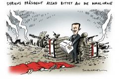 schwarwel-karikatur-assad-syrien-abstimmung-krieg