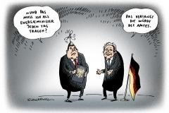 schwarwel-karikatur-amt-amtseinfuehrung-minister-energie