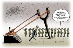 schwarwel-karikatur-leyen-verteidigungsministerin-amtsantritt