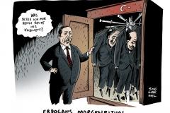 schwarwel-karikatur-erdogan-kabinett-korruption-morgenritual