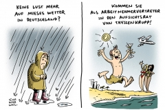 schwarwel-karikatur-thyssenkrupp-arbeitnehmer-gratisflug