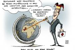 schwarwel-karikatur-mali-militaereinsatz-waffen-schiessen-volk