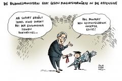 schwarwl-karikatur-schavan-plagiatsvorwürfe-leistungsdruck-bildungsministerin