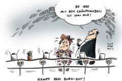 schwarwel-karikatur-burnout-gruenpflanzen-krankenkasse-krankheitstage