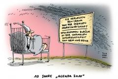 schwarwel-karikatur-traum-marktwirtschaft-sozial-arm-reich