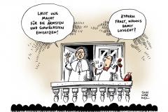 schwarwel-karikatur-zypern-papst-franziskus-reichtum-armut