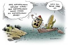 schwarwel-karikatur-gen-saat-monsanto-genmanipulierung-mais-kartoffel