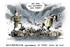 schwarwl-karikatur-hochwasser-flut-deutschland-hilfe