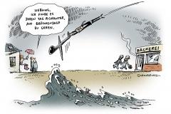 schwarwel-karikatur-verteidigungsminister-homoehe-flut-hochwasser