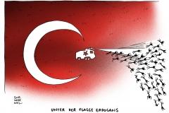 schwarwel-karikatur-erdogan-flagge-raeumung-tuerkei