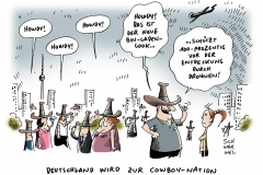 schwarwel-karikatur-cowboy-cowboyhut-osama bin laden-drohnen