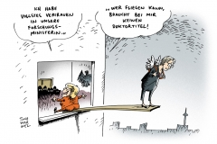schwarwel-karikaturen-merkel-ministerin-forschungsministerin-doktortitel