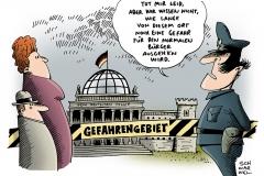 schwarwel-karikatur-gefahr-gefahrengebiet-polizei-hamburg