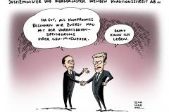 schwarwel-karikatur-voratsdatenspeicherung-justizminister-innenminister-koalitionsstreit