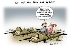 schwarwel-karikatur-bundeswehr-familie-beruf-kinder