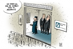 schwarwel-karikatur-bank-bankengeschaeft-milliardenverlust