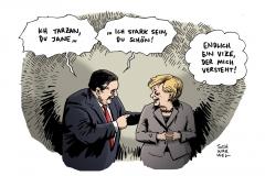 schwarwel-karikatur-groko-kabinett-energieplaene-vizekanzler