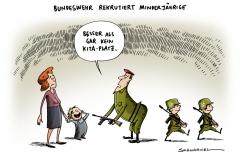 schwarwel-karikatur-kita-bundeswehr-kinder