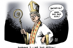 schwarwel-karikatur-schavan-bildungsministerin-paebstin-pabst