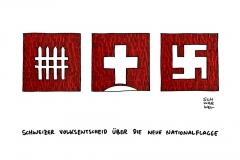schwarwel-karikatur-schweiz-volksentscheid-nationalflagge