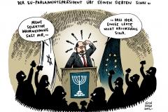 schwarwel-karikatur-parlamentspraesident-rede-eklat
