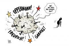 schwarwel-karikatur-edathy-koalitionsstreit-merkel-koalition