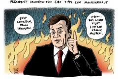 schwarwel-karikatur-janukowitsch-praesident-machterhalt-ukraine-krieg
