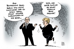 schwarwel-karikatur-israel-deutschland-lob-außenpolitik