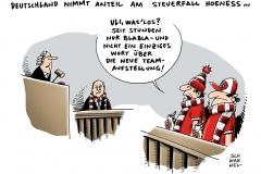 schwarwel-karikatur-hoeness-steuerbetrug-steuerhinterziehung-millionenhöhe-prozessauftakt
