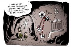 schwarwel-karikatur-hoeness-gier-fussballgott-steuerhinterziehung