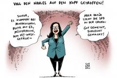 schwarwel-karikatur-nahles-arbeitsministerin-rente-mit-63-groko-ost-west