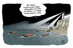 schwarwel-karikatur-flucht-fluechtlingsdrama-fluechtlinge-europa