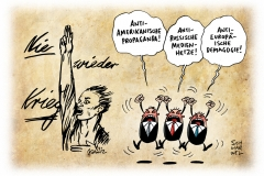 schwarwel-karikatur-nie-iweder-krieg-propaganda