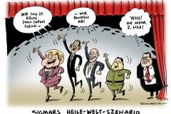 schwarwel-karikatur-koenig-juan-carlos-merkel-obama-putin-sigmar-gabriel