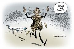 schwarel-karikatur-obama-aufruestung-obama-nato-krieg-frieden