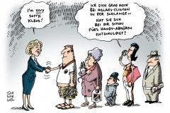 schwarwel-karikatur-clinton-außenministerin-usa-abhoerskandal