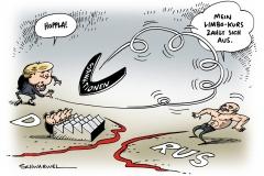 schwarwel-karikatur-sanktion-eu-europaeische union-merkel-putin