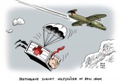 schwarwl-karikatur-irak-steinmeier-hilfsgueter-deutschland-krieg
