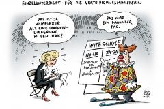 schwarwel-karikatur-von-der-leyen-bundeswehr-waffenlieferung-irak