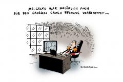 schwarwel-karikatur-crash-wirtschaftsexperten-finanzen-gecko