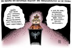 schwarwel-karikatur-waffen-waffenlieferung-kurden-merkel