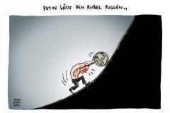schwarwel-karikatur-rubel-putin-russland-finanzsanktionen